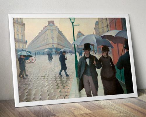 """Lámina """"Calle de Paris. Dia de lluvia, 1877"""" de Gustave Caillebotte"""