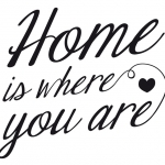 """Vinilo """"Home is where you are"""""""